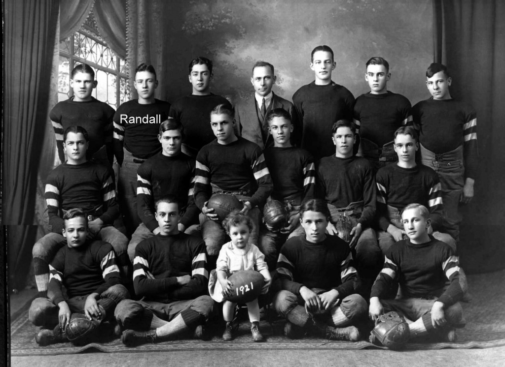 Randall Henry Walvoord football picture c. 1921